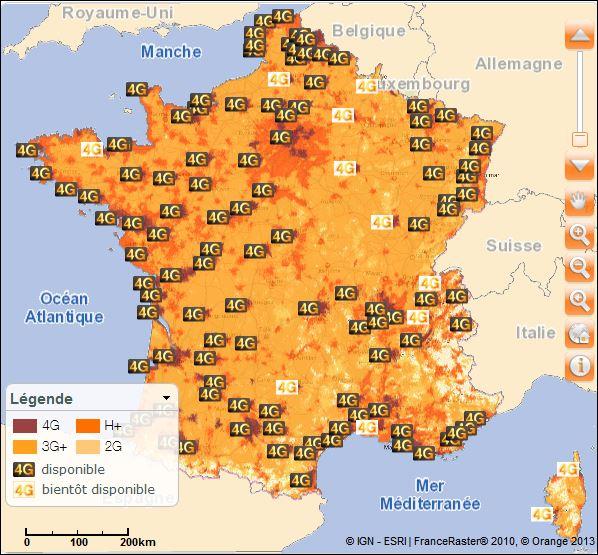 4G France : Orange